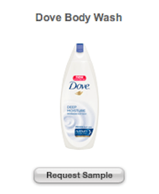 Dove Body Wash and Eucerin Professional Repair Samples