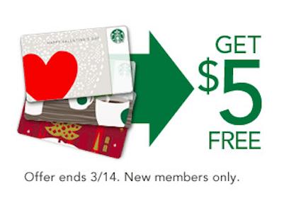 *HOT* $5 Starbucks Gift Card for New Starbucks Rewards Program Members