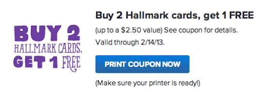 Hallmark Gold Crown Stores Coupon: Buy 2 Get 1 Free Hallmark Cards