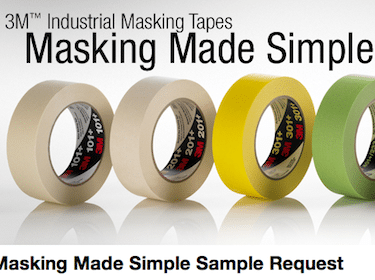 3M Industrial Masking Tape Sample for Businesses