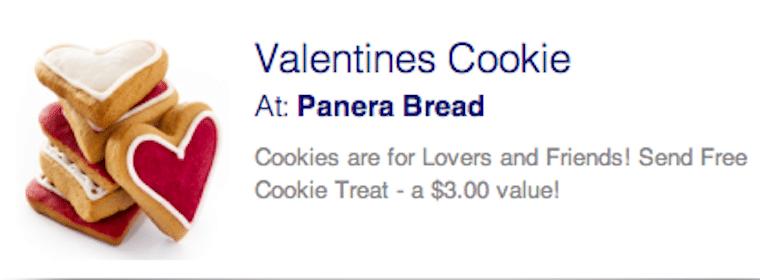 Valentine Cookie at Panera Bread