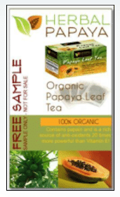 Herbal Papaya Tea Sample