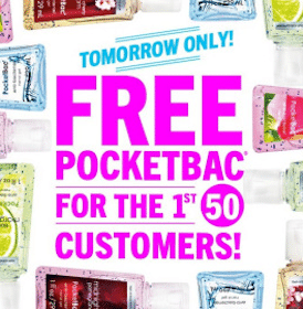 FREE Pocketbac at Bath & Body Works TODAY (February 7th) -1st 50 Customers per Store)