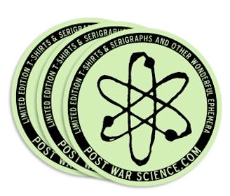 Glow in the Dark Post War Science Sticker