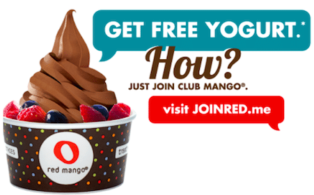 $5 Credit from Red Mango = FREE Cup of Frozen Yogurt