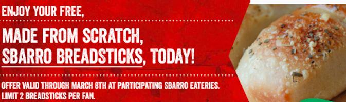 Breadsticks at Sbarro (Coupon)
