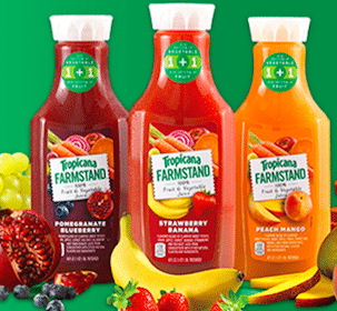 *HOT* FREE 46oz Tropicana Farmstand Juice at Safeway & Affiliates (1st 10,000)