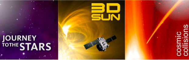 3 Video Downloads from the NASA Educator's DVD Collection (3D Sun, Cosmic Collisions + More)
