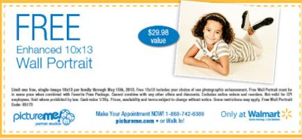 10X13 Custom Wall Portrait at Walmart ($29.98 value!)