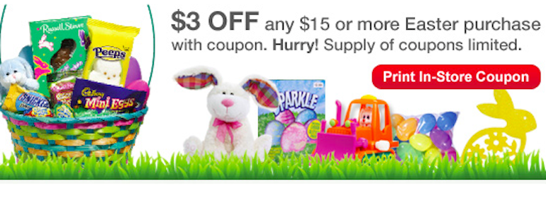 *HOT* CVS Coupon: Save $3 Off $15 In-Store Easter Purchase