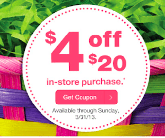 CVS Coupons: $4 Off $20 Purchase OR $5 Off $30 Purchase (Check Your Email!)