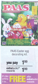 $5 Gift with ANY Easter Candy Purchase + PAAS Kit at CVS (Starting 3/17)
