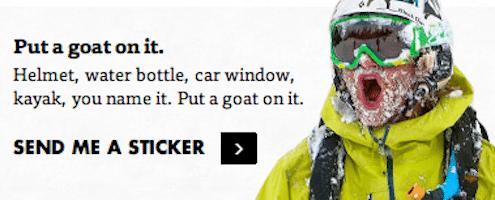 Backcountry.com Goat Sticker