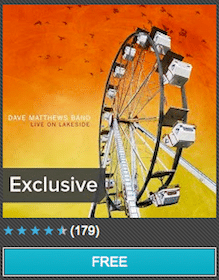 Music Download: Live on Lakeside Album by Dave Matthews Band (Today Only!)