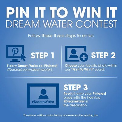 Win A FREE Dream Water Pack with the Pin it to Win It Contest!