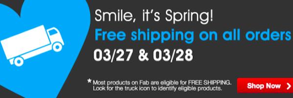 $10 Fab.com Credit + FREE Shipping = FREE Items