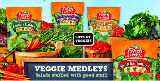 Save $0.55/1 Fresh Express Veggie Medleys Coupon