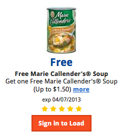 Kroger Coupon: FREE Marie Callender's Soup (Load Coupon TODAY!)