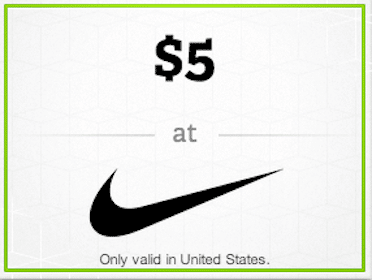 $5 Nike Gift Card with the Wrapp App