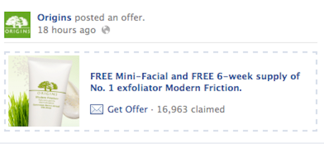 Mini Facial & 6 Week Supply of Origins Modern Friction Exfoliator (Origins Coupon)