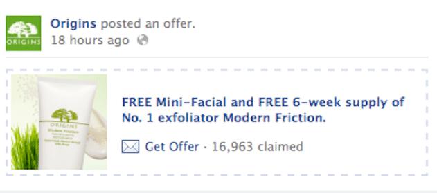 Mini Facial & 6 Week Supply of Origins Modern Friction Exfoliator (Origins Coupon)