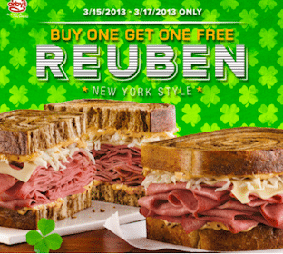 BOGO Reuben at Arby's (3/15-3/17)