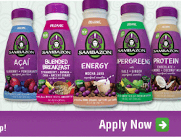 Sambazon Juices or Smoothies (Moms Meet Ambassadors)
