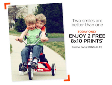 Two 8×10 Photo Prints from Shutterfly (Pay Shipping)