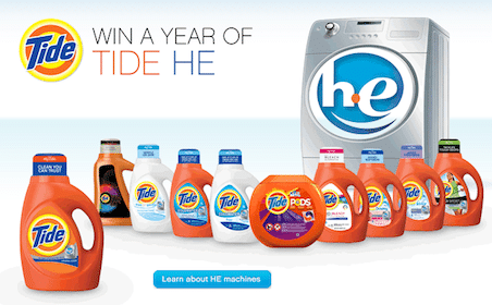 Win a FREE Year's Worth of Tide Laundry Detergent!