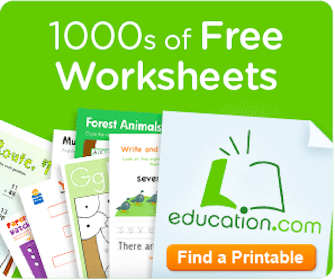Worksheet Printables from Education.com
