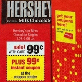 2 Hershey's Candy Bars at CVS
