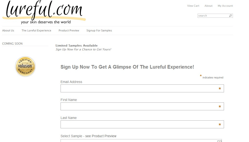 Free Lureful Skincare Samples