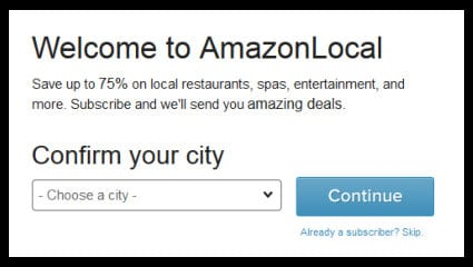 Amazon Local Offers