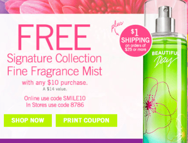 Signature Collection Fine Fragrance Mist W/Any $10 Purchase at Bath & Body Works