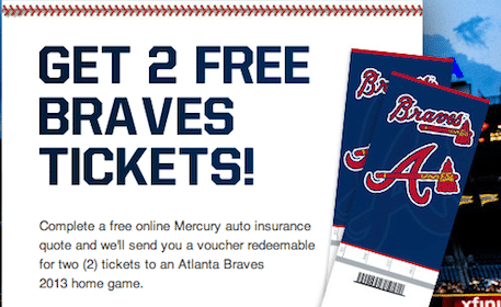 2 Atlanta Braves Tickets w/ Insurance Quote