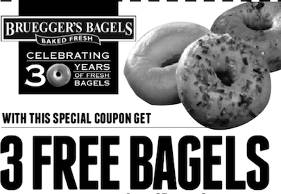 Bagel with Cream Cheese at Bruegger's