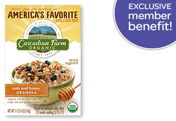 Cascadian Farm Organic Cereal Sample for Live Better America Members