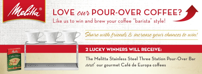 Melitta USA Pour Over Sweepstakes