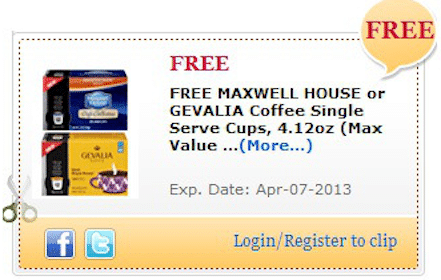 Maxwell House Single Serve Cups Coupon for Commissary Shoppers (Military Members)