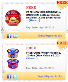 Cool Whip Frosting & Breakstone Cottage Cheese for Commissary Shoppers (Military Members Only)