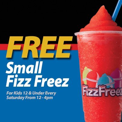 Free Fizz Freez for Kids at Thorntons on Saturdays