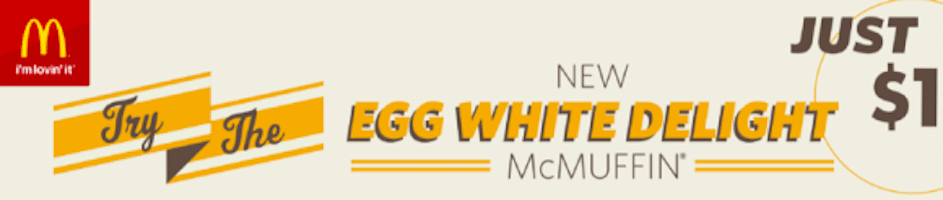 McDonald's Coupon: Egg White Delight McMuffin Only $1