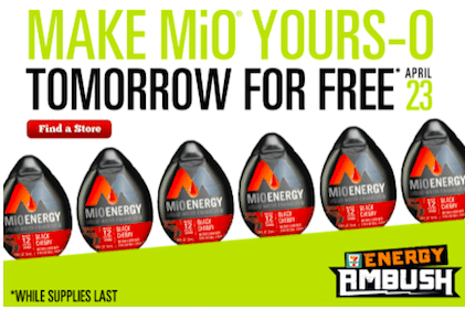 MiO Energy Black Cherry Liquid Water Enhancers at 7-Eleven on April 23