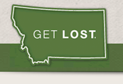 Montana Get Lost Sticker