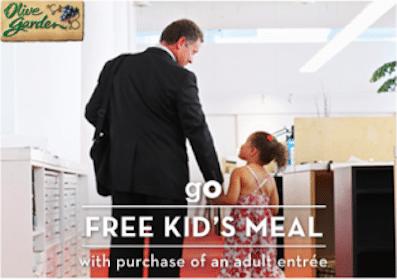 Kids Meals at Olive Garden