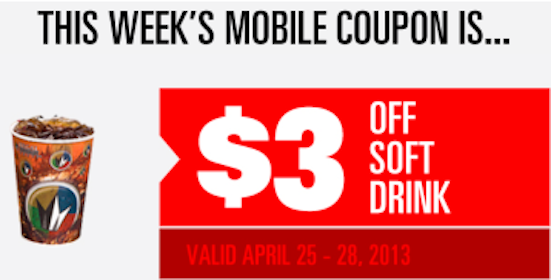 Regal Cinemas Coupon: Save $3 Off Soft Drink (Mobile Offer)