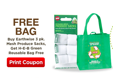 FREE Reusable Bag at H-E-B on Earth Day