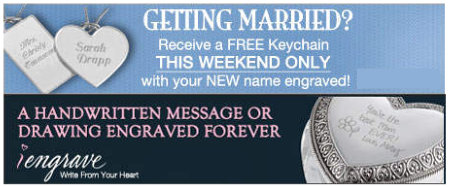 Free Engraved Keychain for Engaged [FACEBOOK]