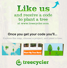 Plant a FREE Tree with Treecycler