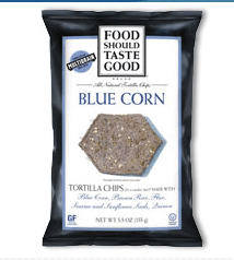 Food should taste good blue corn chips for Live Better America members